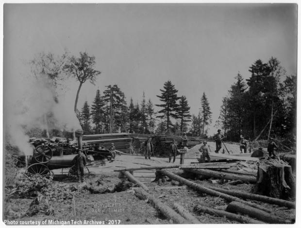 Saw mill & steam engine, Rabbit Bay