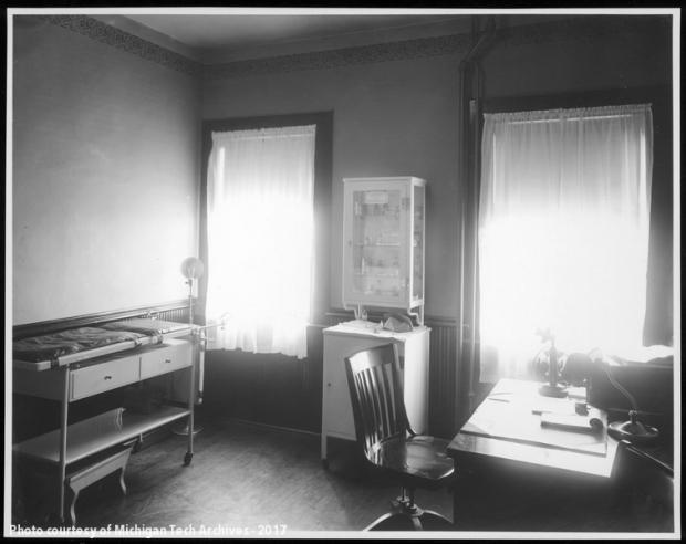 Sun-filled medical room