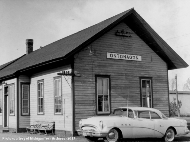 Archive Image of the Milwaukee Road's Ontonagon Station