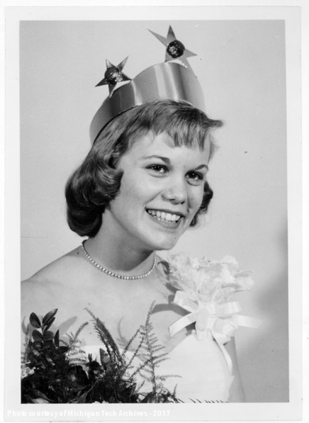 A portrait of the 1959 carnival queen.